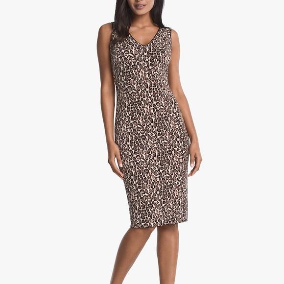 45cc3eb9 White House Black Market Dresses | Reversible Sleeveless Leopard ...